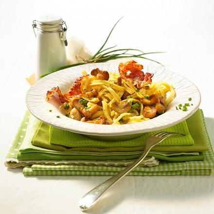 Pilz-Spätzle-Pfanne Rezept