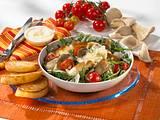 Pilz-Tomaten-Salat mit Rauke, Parmesan und geröstetem Brot Rezept