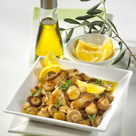 Pilze in Zitronen-Thymian-Öl Rezept