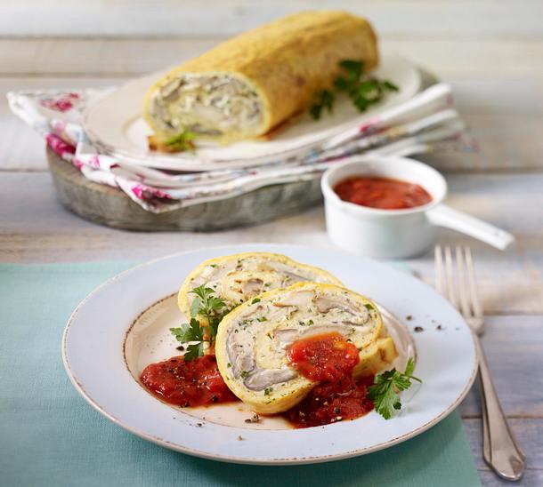 Pilzroulade mit Tomatensoße Rezept