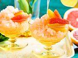 Pink-Grapefruit-Granité mit Limoncello Rezept