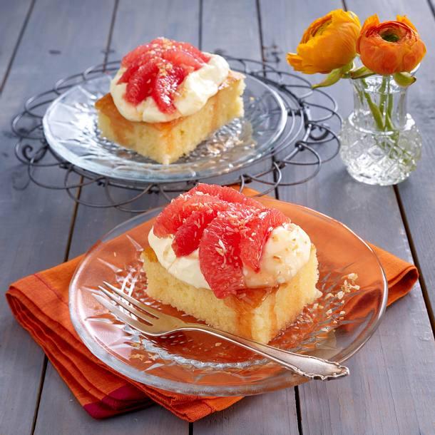 Pink Grapefruit-Grießschnitte Rezept