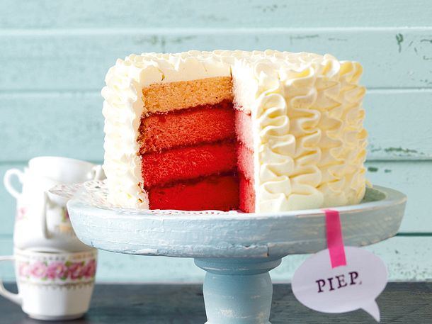 Pink Ombre Cake Rezept