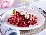 Pink-Risotto mit Kräuter-Paneer Rezept