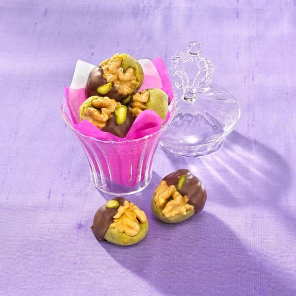 Pistazien-Marzipan-Pralinen Rezept