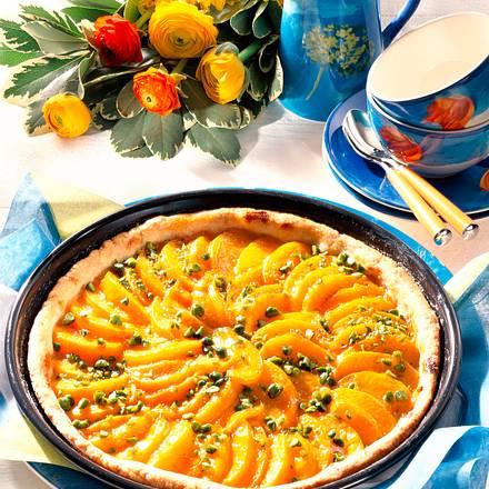 Pistazien-Pfirsich-Tarte Rezept
