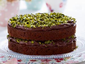 Pistazien-Schokoladenbuttercreme-Torte mit Zucchini Rezept