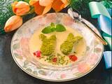 Pistazienhase mit Vanillesoße und Eierlikör Rezept