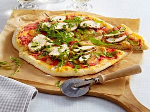 Pizza con Pollo Rezept