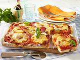 Pizza Hawaii vom Blech Rezept