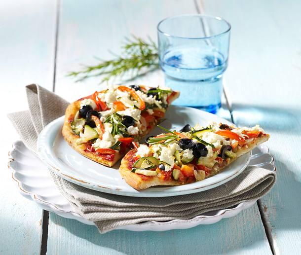 Pizza Mediterran Rezept