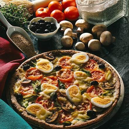 Pizza mit Dinkel Rezept