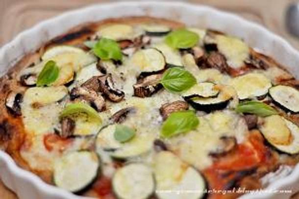 Pizza nach Art des Gemüseregals Rezept