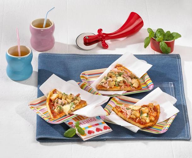 Pizza-Schüttelpfannkuchen Rezept