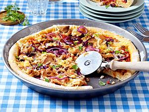 Pizza tonno rapido Rezept