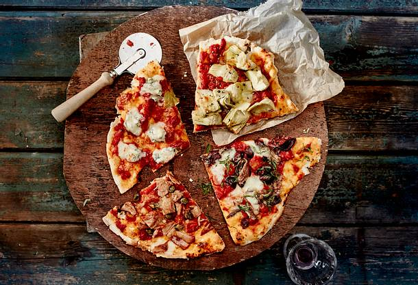 Pizza viermal anders Rezept