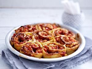 Pizzaschnecken mit Parmaschinken Rezept