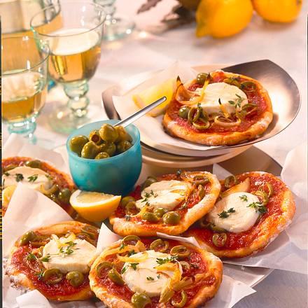 Pizzataler mit Ziegenkäse Rezept