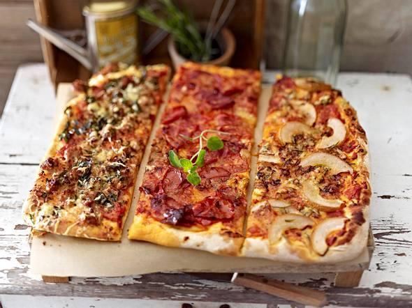 Pizzatrio für viele Rezept