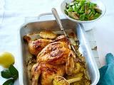 Plattes Hähnchen mit Zitronen-Knoblauch-Butter Rezept