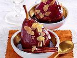 Pochierte Rotweinbirnen Rezept