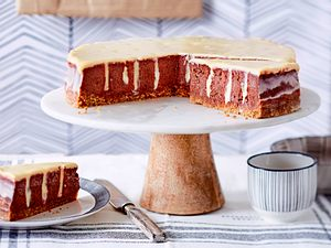 "Poke-Schoko-Cheesecake ""Sweet Smile"" Rezept"