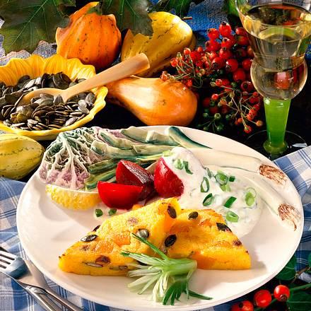 Polenta-Kürbis-Schnitten Rezept