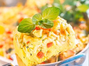 Polenta mit Gemüse-Käsekruste Rezept