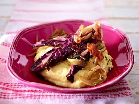 Polenta mit Radicchio-Gemüse  Rezept