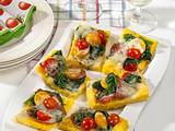 Polenta-Pizzaschnitten mit Gorgonzola Rezept