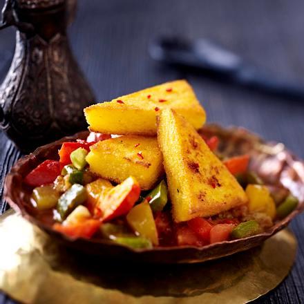 Polentaschnitten auf Gemüse (Ayurveda) Rezept | LECKER