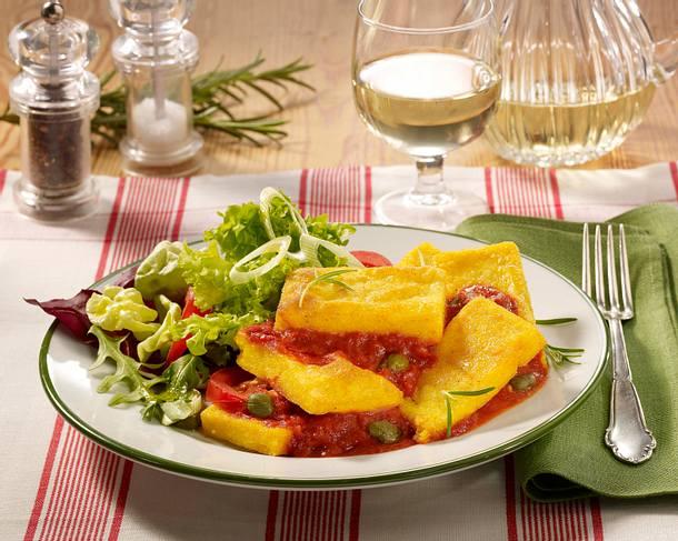 polentaschnitten mit tomatenso e rezept chefkoch rezepte auf kochen backen und. Black Bedroom Furniture Sets. Home Design Ideas