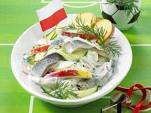 Polnischer Hering-Apfel-Salat  Rezept