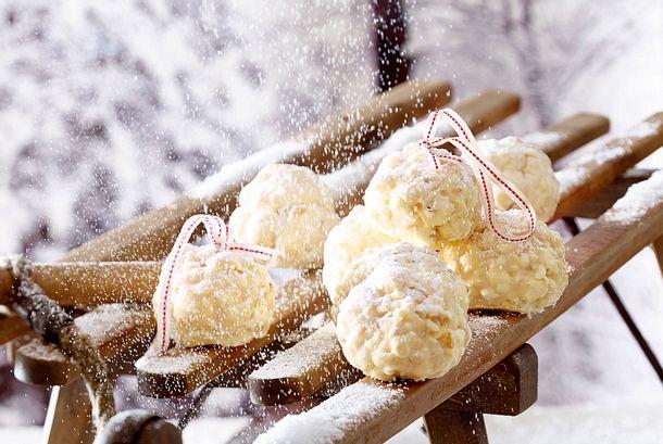 Popcorn-Schneebälle Rezept