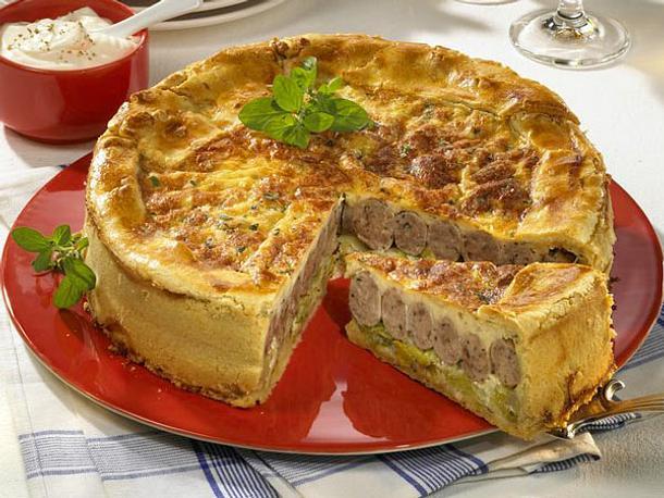 Porree-Bratwurst-Torte Rezept