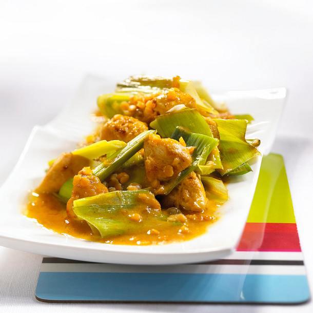 Porree-Curry mit Hähnchenfilet Rezept