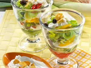 Porree-Schicht-Salat Rezept