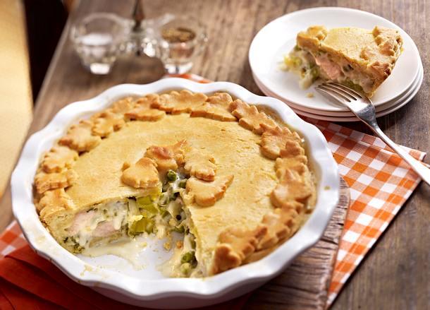 Porree und Puten Pie Rezept