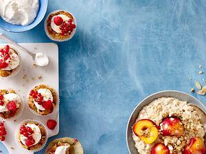 Porridge und Cupcakes mit Haferflocken für Kölln Rezept