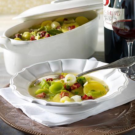 Porrosalda (Ragout aus Lauch und Kartoffeln) Rezept