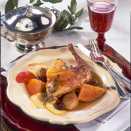 Portugisisches Kaninchen in Rotwein Rezept