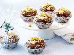 Pralinen-Muffins mit Vanillestreuseln Rezept
