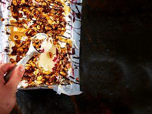 Preiselbeer-Erdnuss-Milcheis Rezept