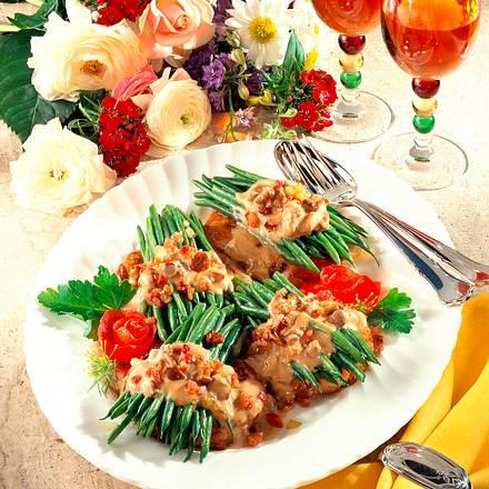 Prinzeßböhnchen mit Pfifferlingsrahmsoße Rezept