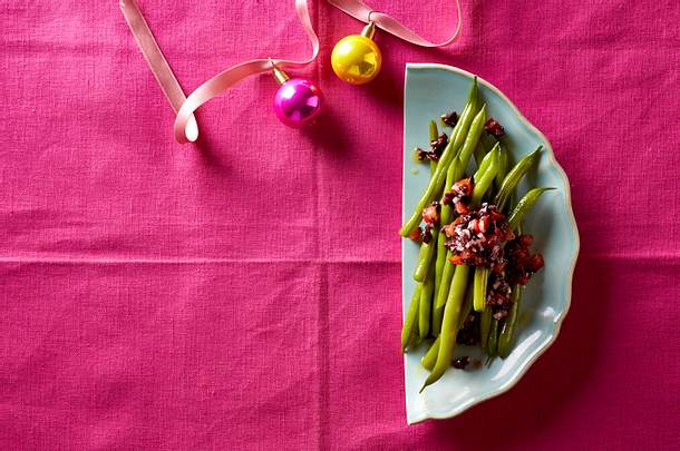 Prinzessbohnen mit Oliven-Tapenade Rezept