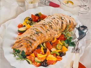 Provençalische Putenbrust mit Ratatouille-Salat Rezept