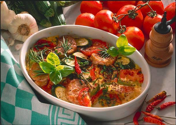Provençalischer Auflauf mit Schweinefilet Rezept