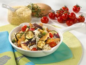 Provenzalische Gemüse-Reispfanne Rezept