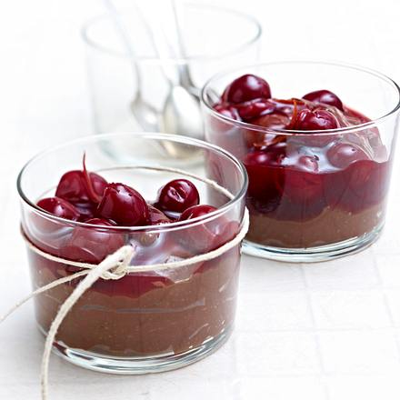 "Pudding ""double chocolate"" mit Vanillekirschen Rezept"