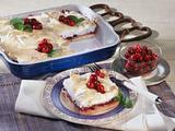 Pudding mit Baiserhaube und Cranberries Rezept